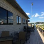 Showers Field VIP suite balcony